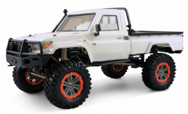 AMXROCK RCX10P SCALE CRAWLER PICK-UP, 1:10 RTR WEISS